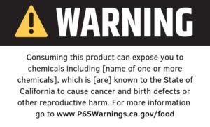 Prop 65 Label Non Official